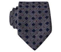 Krawatte - grau/ blau