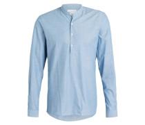 Hemd Slim-Fit mit Stehkragen - blau