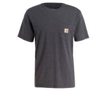T-Shirt - dunkelgrau meliert