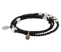 Armband Be RELAXED - schwarz/ silber