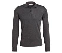 Poloshirt mit Cashmere-Anteil - grau