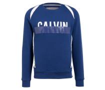 Sweatshirt HALDI - blau/ weiss