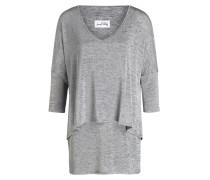 Pullover in Layer-Optik - grau