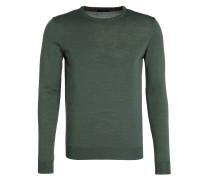 Pullover mit Schurwoll-Anteil - grün