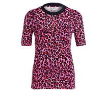 T-Shirt JASBIR - pink/ rot/ schwarz