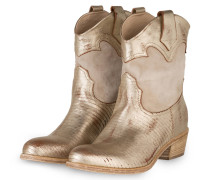 Cowboy Boots - HELLGRAU/ GOLD