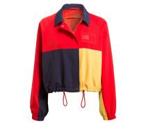Jacke - dunkelblau/ gelb/ rot