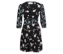 Kleid BELIZE - schwarz/ grau/ rot