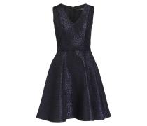 Jacquard-Kleid - dunkelblau