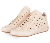 Hightop-Sneaker mit Perlenbesatz