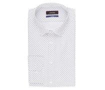 Hemd Tailored-Fit - weiss/ dunkelblau