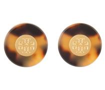 Ohrstecker - braun/ gold
