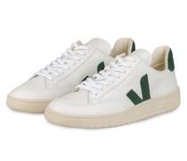 Sneaker V-12 - WEISS/ DUNKELGRÜN
