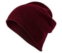 Cashmere-Mütze - bordeaux