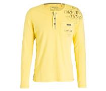 Henley-Shirt - gelb