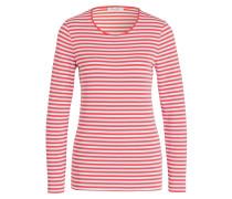 Longsleeve - weiss/ pink