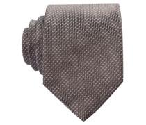 Krawatte - silber / braun