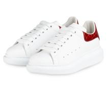 Plateau-Sneaker - WEISS/ DUNKELORANGE
