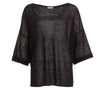 Pullover mit Leinenanteil - schwarz
