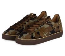 Sneaker - oliv / beige / braun