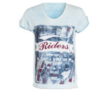 T-Shirt DAYTONA BEACH - hellblau meliert