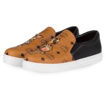 Slip-on-Sneaker - schwarz/ cognac