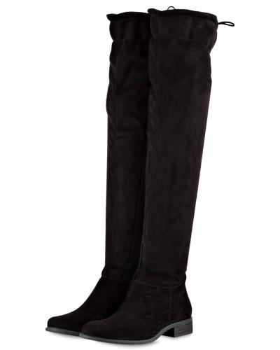 Overknee-Stiefel - schwarz