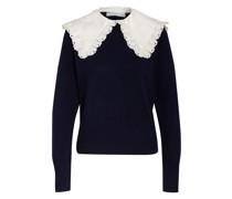 Pullover mit abnehmbarem Kragenbesatz