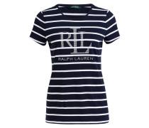 T-Shirt KATLIN - navy/ weiss
