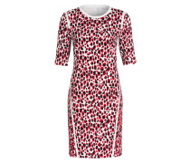 Kleid DESIMA - offwhite/ schwarz/ rot
