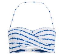 Bandeau-Bikini-Top MANDALA - weiss/ blau
