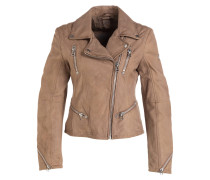 Lederjacke HAPPY - beige