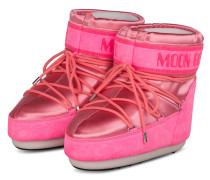 Moon Boots CLASSIC LOW SATIN - NEONROSA