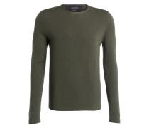 Schurwoll-Pullover - grün