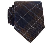 Krawatte - braun/ navy kariert