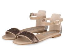 Sandalen mit Pailettenbesatz