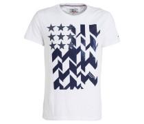 T-Shirt - weiss/ navy