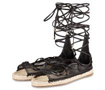 Sandalen im Espadrilles-Stil - schwarz