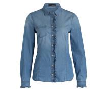 Bluse CIPATTY im Jeans-Look - hellblau