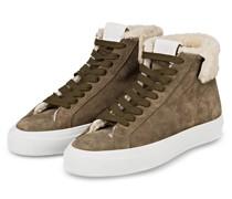 Plateau-Hightop-Sneaker SANDY - KHAKI