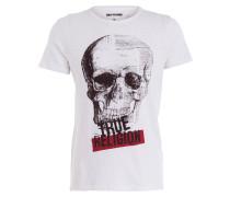 T-Shirt SKULL PRINT - weiss