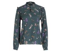 Bluse - grün/ braun/ lila