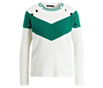 Pullover - ecru/ grün