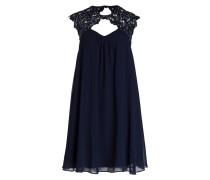 Kleid mit Paillettenbesatz - navy