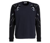 Sweatshirt - marine/ schwarz