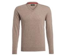 Schurwoll-Pullover HARROW mit Patches