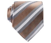 Krawatte - beige/ weiss/ grau