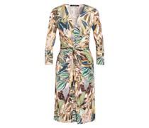 Kleid mit 3/4-Arm in Wickeloptik
