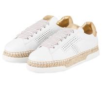 Sneaker - weiss/  gold metallic
