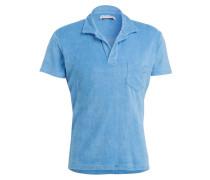 Poloshirt aus Frottee - blau